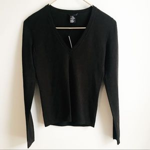 NWT Theory V- Neck Sweater in Bittersweet